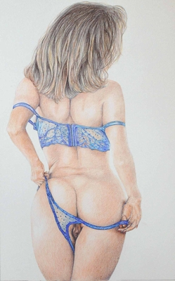 Figurative fine art Painting. Fanasy Girls, Jayne.  Peter Buddle